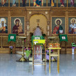 Iconostasis in russian orthodox church — Stock Photo