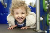 Young child playing at the playground — Stock Photo