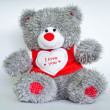 Grey Teddy Bear — Foto de Stock