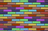 Multi colored Brick Wall — Stock Photo