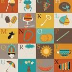Alphabet for children. Vector illustration — Stock Vector