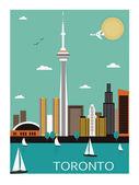 Toronto. Canada. — Stock Vector