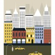New York city. Vector — Vector de stock #37308245