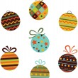 Christmas balls. Vector — Stock Vector