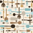 Stock Photo: Cutlery seamless pattern background