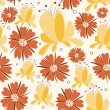 Seamless Floral background in bright colors. — Stock Photo