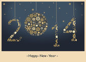 2014 Happy New Year greeting card. Vector — Stock Photo
