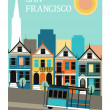 Stock Vector: SFrancisco California.
