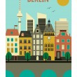 Stock Vector: Berlin city.