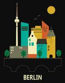 Germania berlino. — Vettoriale Stock