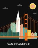 San Francisco California USA. — Stock Vector
