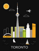 Toronto city. Vector — Stock Vector