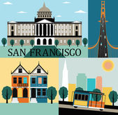 San francisco,California. — Stock Vector