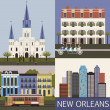 New Orleans. Vector — Stock Vector