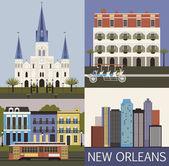 New Orleans. Vector — Stock Vector