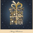 Christmas gift boxe from golden snowflakes — Stock Photo #37390151