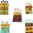 Set of gift boxes. Vector — Stock Photo