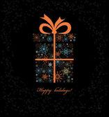Christmas gift boxe from snowflakes. — Stock Photo