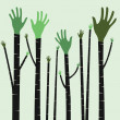 Hand tree. — Stock Vector