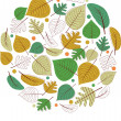 Autumn leaves background. — Stock Vector