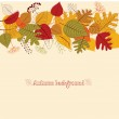 Seamless background from autumn leaves. — Vetor de Stock  #37458207