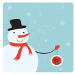 Christmas decoration with snowman. — Stock Vector #37458303