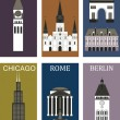 Vetorial Stock : Famous cities