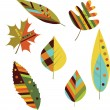 Seamless colorful autumn leaves. — Stock Vector