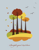 Autumn trees — Vector de stock
