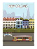 New Orleans city. — Stock Vector