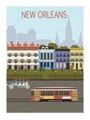 New Orleans city. — 图库矢量图片