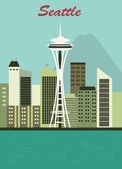 Seattle city. — Stock Vector