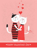 Two cats in love. — Stock Vector