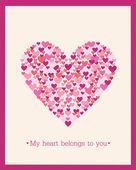 Sevgililer günü kalpleri ile dekorasyon. — Stockvektor