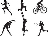 Women in different kinds of sport. — Wektor stockowy