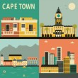 Stock Vector: Cape Town travel card