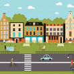 Illustration of city life — Stock Vector #40310967
