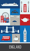 Symbols of England. — Stock Vector