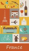 Symbols of France. — Stock Vector
