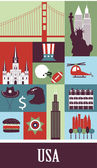 Symbols of USA — Stock Vector