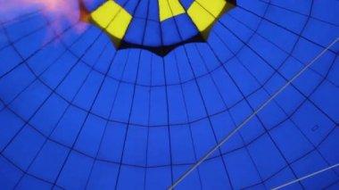 Balloon air gas heating — Stock Video
