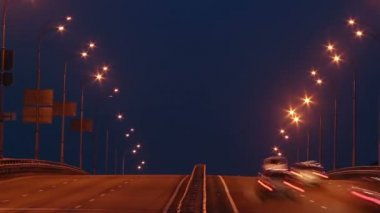 Timelapse of bridge highway traffic — Stock Video