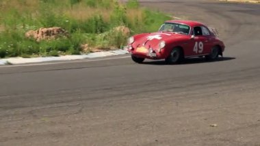 Classic retro German car Porsche model 356C first Porsche ever — Stock Video