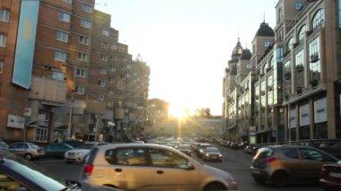 Gatutrafik — Stockvideo