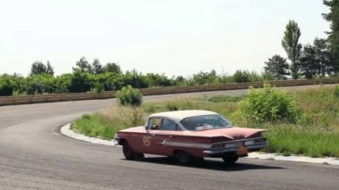 Rich luxury Chevrolet Impala driving its way — Stock Video
