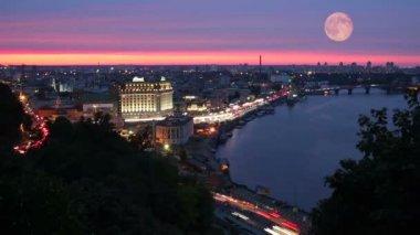Night city — Стоковое видео