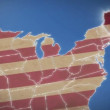 Maine on USA map — Stock Video #39635179