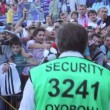 Security on a soccer match — Stock Video