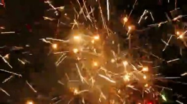 Large firework sparks — Stock Video