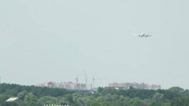 Landing vliegtuig — Stockvideo